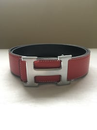 Reversible Black and Red Hermes Belt Mississauga, L5N 7L7