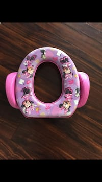 pink and white Minnie Mouse potty trainer Aurora, 60502