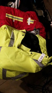 insulated striped parka safety fr coat winter csa boot steel toe