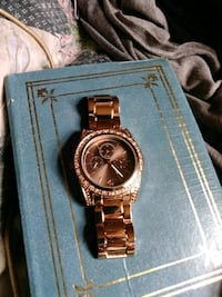 Rose colored watch