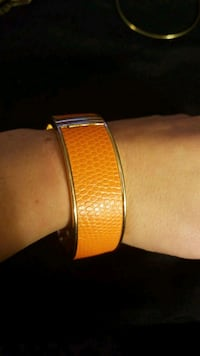 Orange leather and gold bangle  Falls Church, 22042