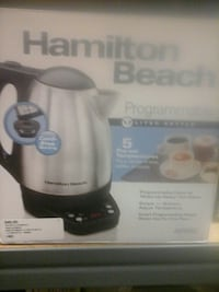 stainless steel and black Hamilton Beach electric kettle box Hagerstown, 21740