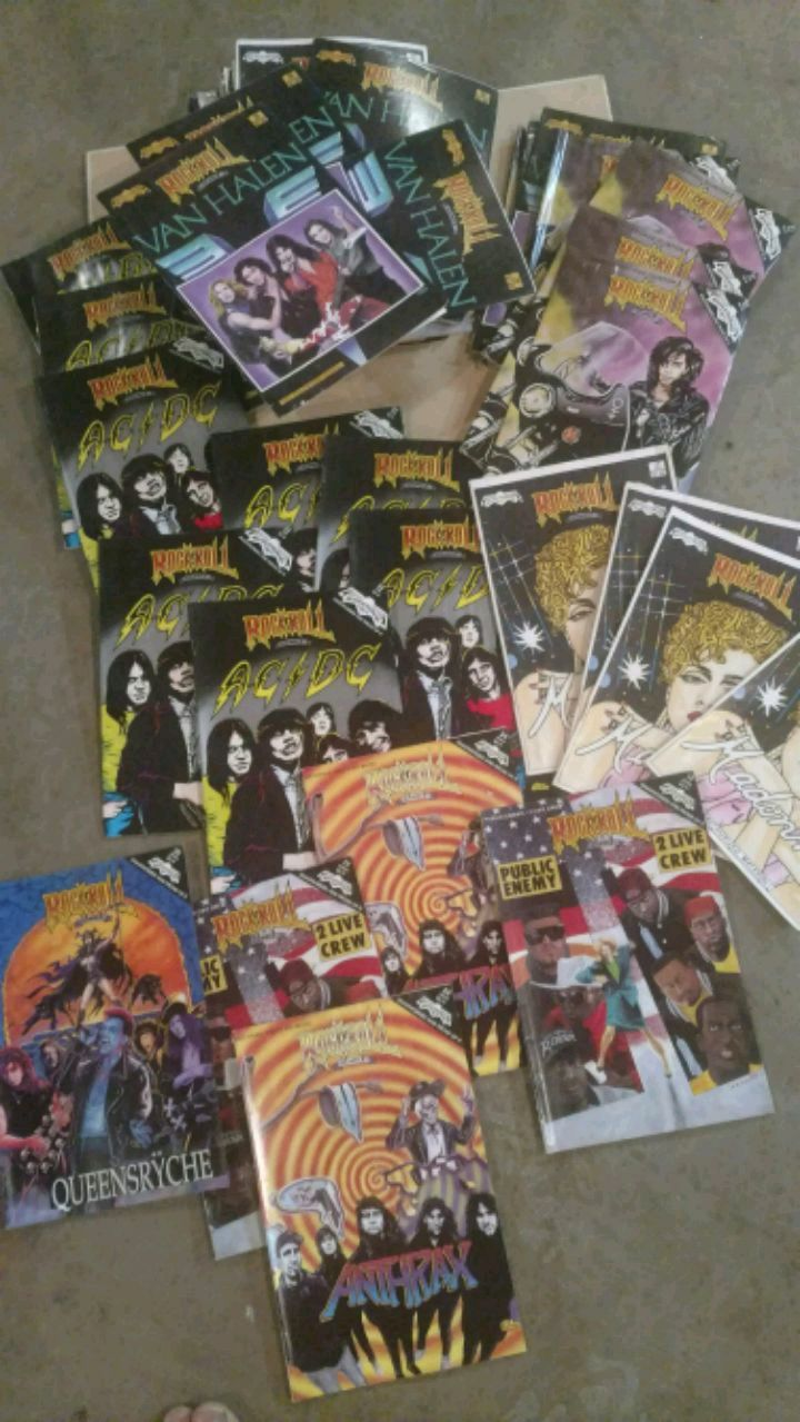 Photo 63 rock and roll comics, all in good shape, not perfect but good