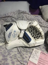 JAMES REIMER practice glove and game used blocker Ajax, L1S 7A4