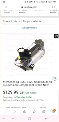 Used mercedes cls550 air suspension compressor