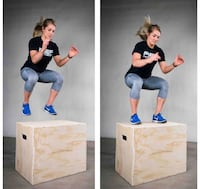Rep 3 in 1 Wood Plyometric Box for Jump Training and Conditioning 30/24/20 Bakersfield, 93313