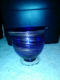 blue and gold glass Bowl