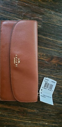 brown leather coach wallet