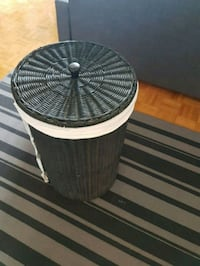 Black Wicker Laundry Basket Mississauga, L5A 2H5