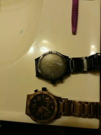 round black chronograph watch with link bracelet Owings Mills, 21117