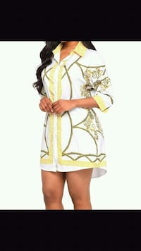 women's yellow and white floral dress Montreal, H1G