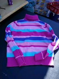 pink and blue striped sweater Apex, 27502
