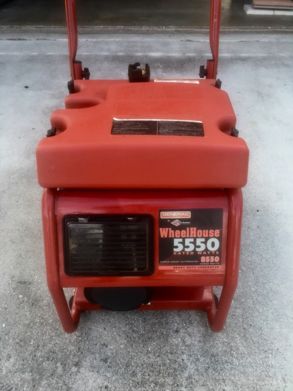 5550 rated watts red generac wheelhouse generator
