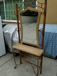 Wicker with mirror and hat coat hanger Burbank, 91504