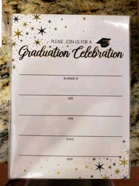 Graduation invitations unopened with envelopes Aston