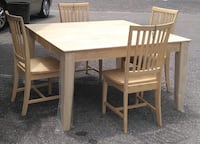 Brand new natural wood dining set: table and 4 chairs Saint Petersburg, 33705