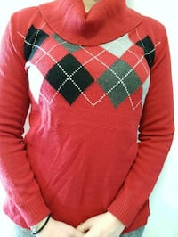 red and black plaid textile sweater Waterloo, N2V 2K7