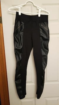 Black Tights With Pleather on Sides