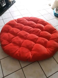 Large pillow for wicker chair