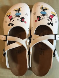 Birkenstock Sandals (Birki's Dorian) size 10 EU 41, new in box with tags. Bought these a couple of years ago for about $100 but never took them out of the box. Just found them and can no longer wear sandals due to foot problems. NEW Minnie and Mickey Eagan, 55123