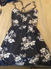 black and white floral spaghetti strap dress Toronto, M6N 4P6