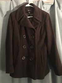 Women's style and company size sm Brown peacoat