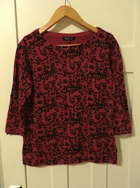 Red Leopard Print Sweater Vancouver, V6G 2C9