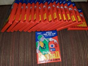 17 Packs of 1987 Topps Football Cards