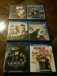 six assorted DVD movie cases Mississauga, L5A 3Z2