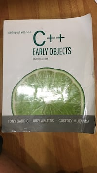 C++ Early Objects book