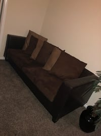 Black and brown sectional couch Laurel, 20708