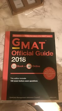 2018 Gmat official guide book Toronto, M5S 2Y1