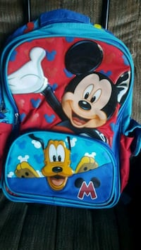 Mickey Mouse backpack/ suitcase with wheels