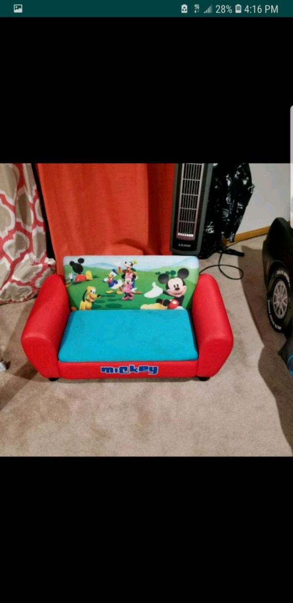 Mickey mouse couch w storage