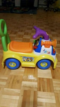 Baby ride-on/walker with educational sounds