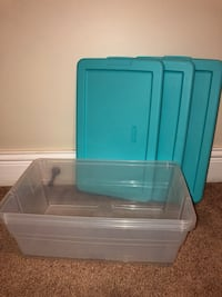 teal and white plastic container Murfreesboro, 37129
