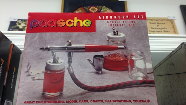Vintage Paasche Airbrush Set Double Action Internal Mix