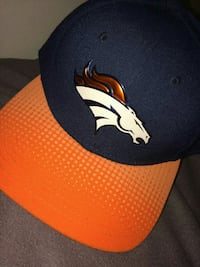 black and orange Denver Broncos fitted cap