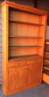 Solid Oak Versatile Bookcase / Bookshelf Storage Display Cabinet Lakeville, 55044