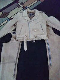 Swead leather chaps and coat firm on price like ne