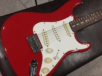 Red And White Electric Guitar Brampton