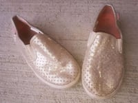 Girls size 12 shimmery gold slip on shoes.  Kitchener, N2A 4B9