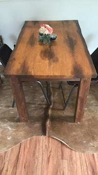 Reclaimed wood dining table Vancouver, V5L