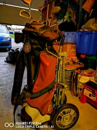 Full set of golf clubs and cart Bowmanville, L1C 3X7