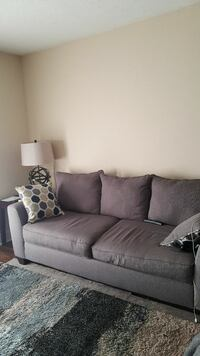 Grey, fabric sofa set and 3 piece tables