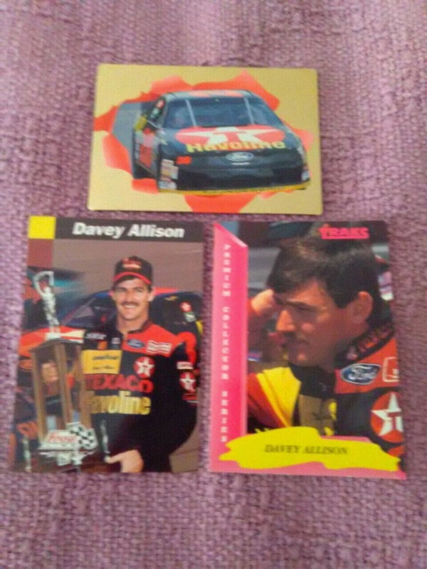 3 Davey Allison trading cards for $5