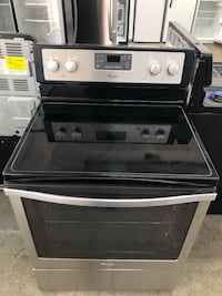 electric stove stainless steel glass top Whirlpool convection oven Warren, 48089