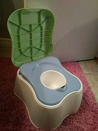 blue and green plastic potty trainer Edmonton, T6L 6H5