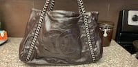 Chanel Dark brown purse with metal hardware Mississauga
