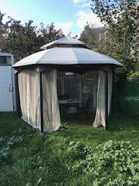 10\10 gazebo .. you can remove the netting since it's been a bit torn.